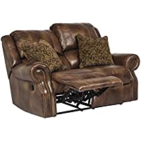 Ashley U7800174 Walworth - Auburn Reclining Loveseat with