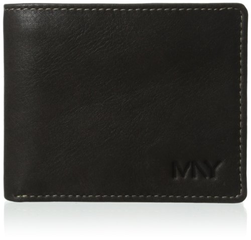 Marc New York Men's 2 Tone Washed Passcase, Black, One Size