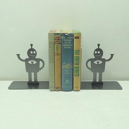 Amazon.com: Amor Bot Retro Robot sujetalibros: Jardín y ...