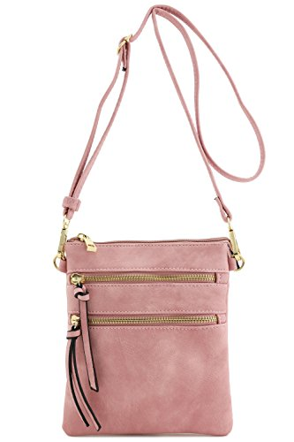 Functional Multi Pocket Crossbody Bag (Dusty Pink)