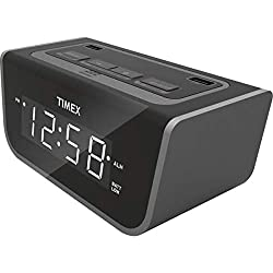 1 Pc, Timex Led Alarm Clock W/2 USB Charging Ports & Battery Backup