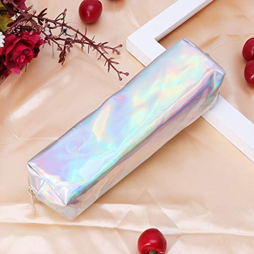 para 7 5cm Size Maquillaje 18x5x4 Mujer 97x1 diseño Lamdoo 77 App Rosa Rosa Color Plateado holográfico Estuche 09x1 de qfxfwARC