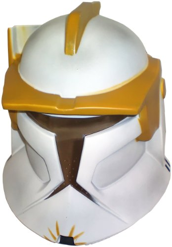 Rubie's Costume Co Star Wars The Clone Wars Helmet Clone Trooper Commander Cody, Yellow, One Size for $<!--$31.67-->