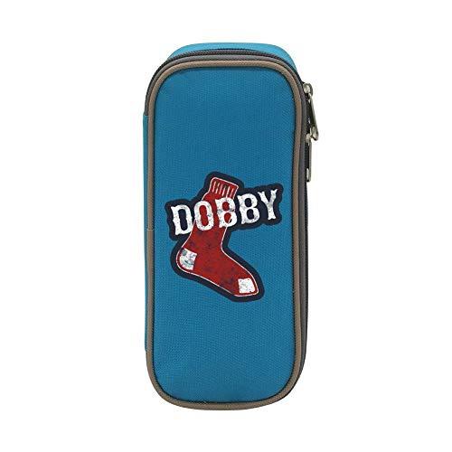 Ellis Wollaston Pen Case Dobby Stock Pencil Bag Big Capacity Multifunction Canvas-Blue for Child