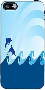 Las Olas Del Mar Snoogg Y El Delfín Sobre Fondo Azul Diseñador Protectora Vol...