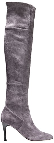 Cole Haan Women's Marina Otk Slouch Boot, Light Storm Cloud Suede, 10.5 B US by Cole Haan