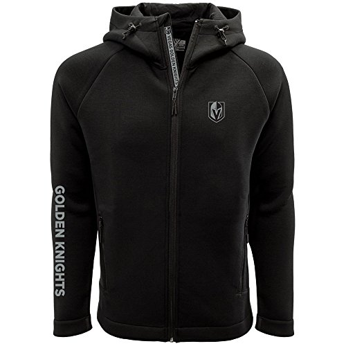 Levelwear LEY9R NHL Vegas Golden Knights Adult Men Titan Insignia Bold Full Zip Hooded Jacket, X-Large, ()