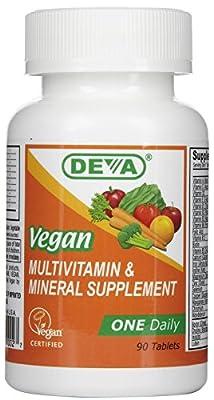 DEVA Vegan Multivitamin & Mineral Supplement Tablets, 90 Tablets