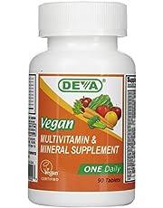 Deva Nutrition Vegan Multivitamin & Mineral Supplement ONE Daily - 90 Coated Tablets