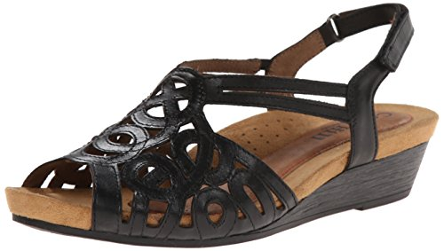 Women's Helen Black Rockport Hill Cobb Wedge CH Sandal tEOpzqw