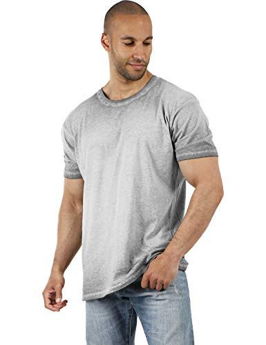 Hat and Beyond Premium Oil Washed T Shirt Ultra Soft Comfort Vintage Tee (2X-Large, 1hc23_Limestone)
