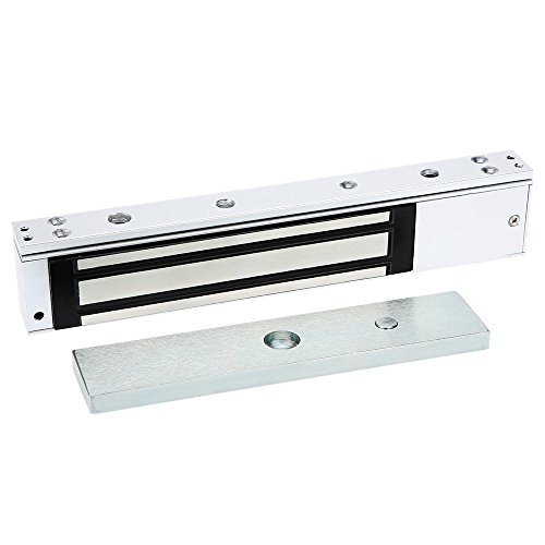 FUGEST 600lbs Electromagnetic Lock Holding Force for Access Control Single Door 12V ()