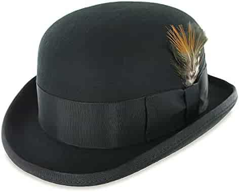 39adf5428d2c7 Belfry Bowler Derby 100% Pure Wool Theater Quality Hat in Black Brown Grey  Navy Pearl