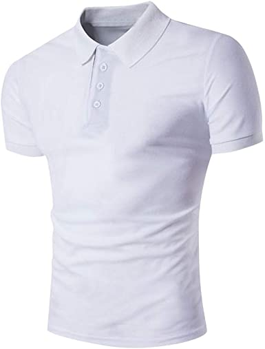 LANSKIRT Camisetas Hombre Originales Camiseta de Manga Corta Delgada Casual Blusa Personalidad Camisa de Solapa de Color Liso Tallas Grande Ropa de Hombres: Amazon.es: Ropa y accesorios