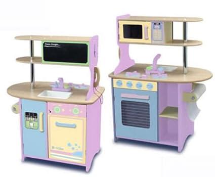 Amazon.com: KidKraft Island Kitchen - Pastel: Toys & Games