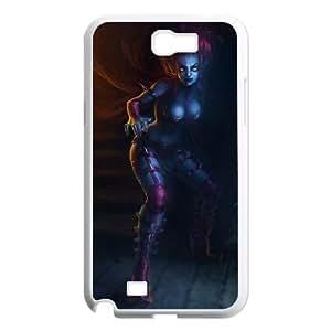 Samsung Galaxy N2 7100 Cell Phone Case White League of Legends Masquerade Evelynn OIW0430630