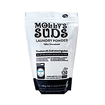 Molly's Suds Natural Unscented Laundry Powder 120 Loads - Free of Harsh Chemicals, Gentle on Sensitive Skin and Eczema.