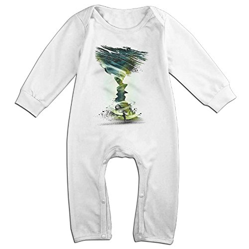 Twister Costume Couples (Raymond The Twister Kiss Long Sleeve Bodysuit Outfits White 24 Months)