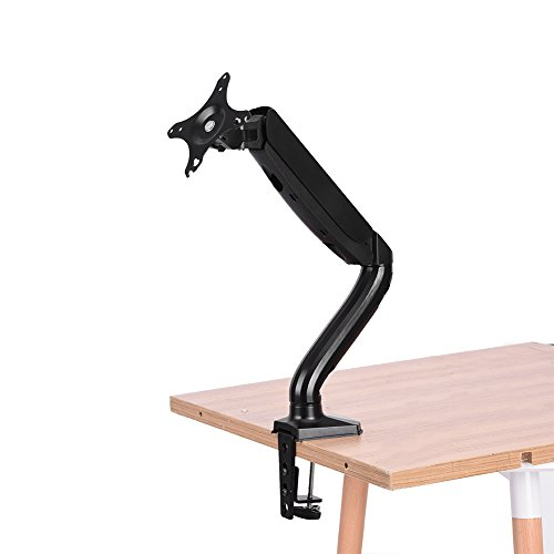 Rotatable Lcd - Monitor Mount Stand, Single Arm Desktop Rotatable Lifting Arm Mount for 10-24 inch LCD LED TV Computer Display Screens Monitor Stand Support