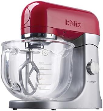 Kenwood KMX51 500W 4.6L Metálico, Rojo - Robot de cocina (4,6 L, Metálico, Rojo, 1 año(s), Vidrio, Aluminio, 500 W): Amazon.es: Hogar