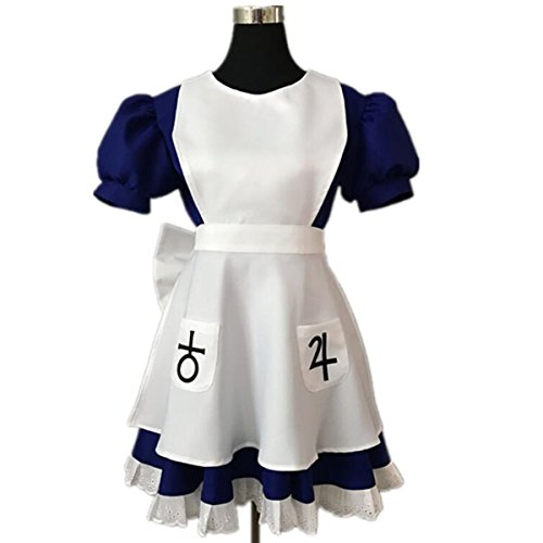 NSOKing Hot Anime Alice Madness Returns Cosplay Costume Halloween Maid Dress (Custom-Made, Womens -