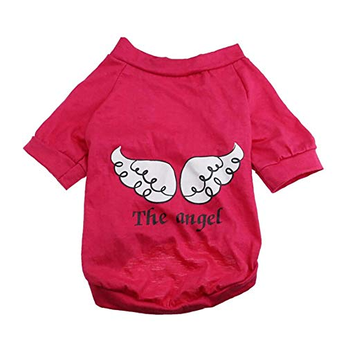 Hpapadks Pet Cotton Clothes,Dog Pet Spring Summer The Angel Vest Sleeveless T-Shirts Clothes Pet Dog T-Shirt Angel Wings Pattern -
