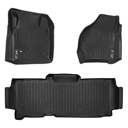 MAX LINER A0176/B0297 MAXFLOORMAT Floor Mats for Ford F-250 / F-350 SuperCab (1999-2007) Complete Set (Black)