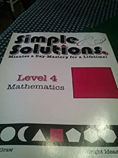 Simple solutions math level 3 nancy l mcgraw 9780972873000 simple solutions mathematics level 4 semester 1 se by nancy mcgraw 2008 fandeluxe Images