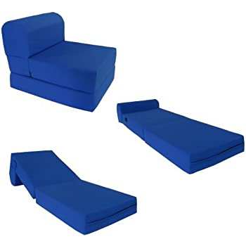 amazon com royal blue sleeper chair folding foam bed
