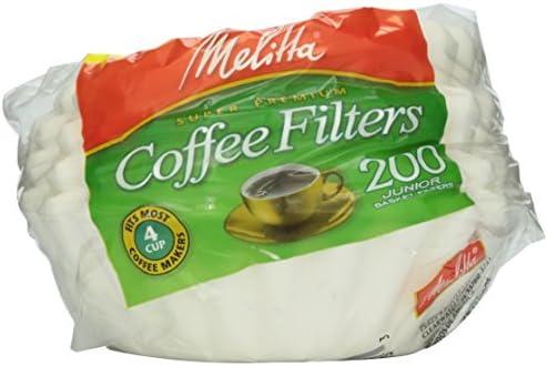 Filtros para cafetera Melitta White Jr. De 4 a 6 tazas, 200 ...