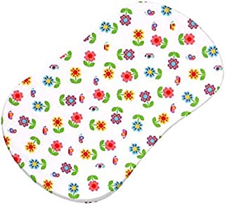 product image for SheetWorld Fitted 100% Cotton Percale Bassinet Sheet Fits Halo Bassinet Swivel Sleeper 17 x 30, Colorful Roses, Made in USA