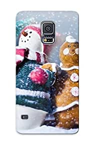DyCqucI4159YOvic Hot Fashion Design Case Cover For Galaxy S5 Protective Case (snowman And Gingerbread Man )