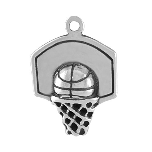 - Sterling Silver Basketball and Hoop Charm Item #43494