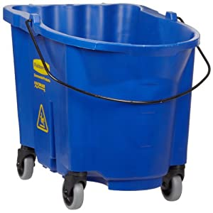 Rubbermaid Commercial FG757088BLUE WaveBrake Bucket, 35-Quart Capacity, Blue