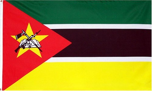 Mozambique National Country Flag - 3 foot by 5 foot Polyester (New)