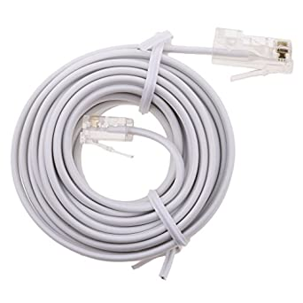 Flameer RJ11 To RJ45 Modem Cable Connect Router To ADSL Filtered RJ45 Socket White