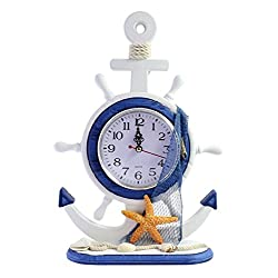 Nautical Table/Desk Clock - Starfish With Net