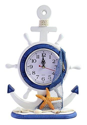 JustNile Nautical Table/Desk Clock - Starfish With Net
