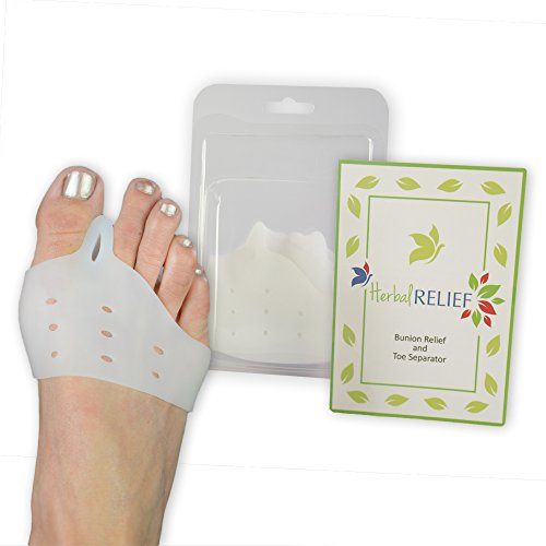 HerbalRELIEF Bunion Relief, Toe Separator, and Toe Spacer | Fast Bunion Relief Without Surgery | Use for Foot Pain and Hallux Valgus| Best Available Protection and Treatment for Bunion Pain