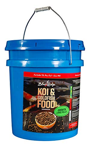 Blue Ridge Fish Food Pellets [14LB] Koi and Goldfish Growth Formula, Large Floating Pellet, Balanced Diet