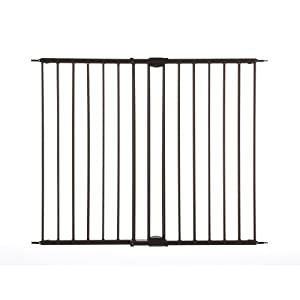 "Supergate Easy Swing & Lock Gate, Bronze, Fits Spaces between 28.68"" to 47.85"" Wide and 31"" high"