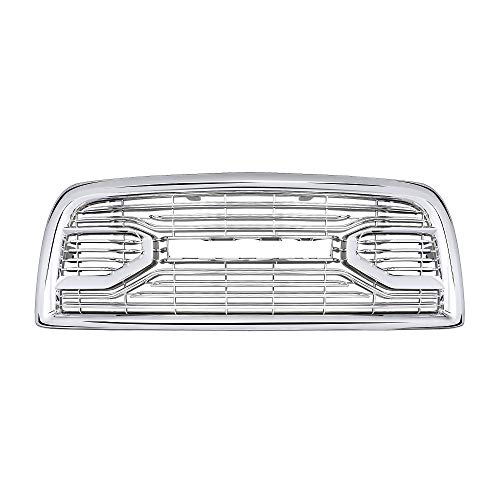 Front Grill for Dodge RAM 2500 2013-2018 Big Horn Horizontal Style Upper Bumper Grille Chrome Letters