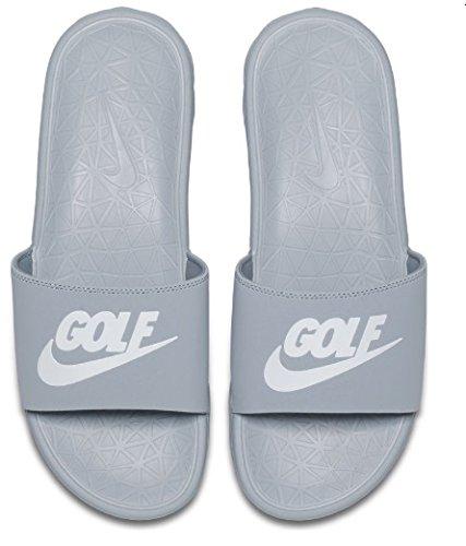 NIKE Benassi Solarsoft 2 Men's Golf Slides (Wolf Grey, 9.0 D(M) US)