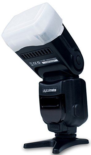 DigitalMate DM780EX E-TTL Dedicated Flash with 18-180 Power Zoom, Bounce & Swivel (Black)