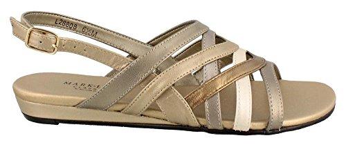 Metallic Multi Footwear (Rose Petals Women's Lanie Dress Sandal,Metallic Multi Kid,10 M)