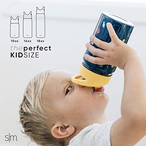 Simple Modern 10oz Summit Kids Water Bottle Thermos with Straw Lid - Dishwasher Safe Vacuum Insulated Double Wall Tumbler Travel Cup 18/8 Stainless Steel -Unicorn Fields