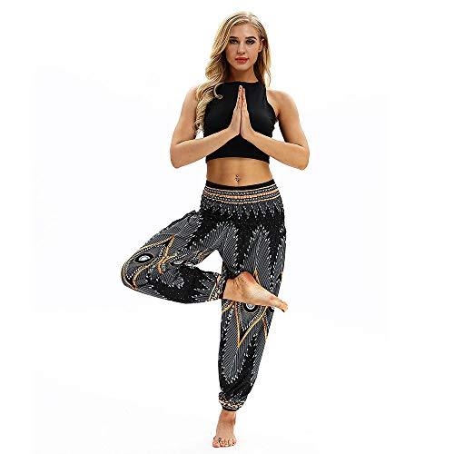 Baggy Black2 Polyester Trousers Women Boho Pants Pants Men Xmiral Loose Harem Casual Trousers Hippy Print Yoga nwEZ8naqCx