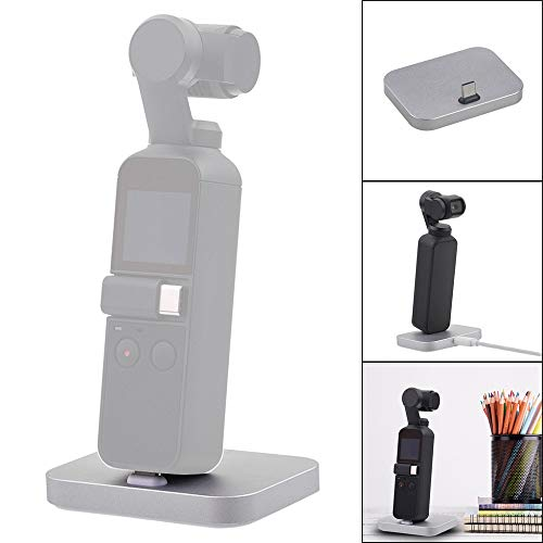 Fdrone Fast Dock Desktop Charger Station Charging Stand Cradle Station Compatible with DJI Osmo Pocket (Silver) from Fdrone_ Drone Accessories