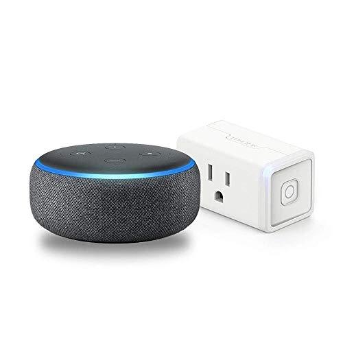 Echo Dot (3rd Gen) Charcoal Bundle with TP-Link simple set up smart plug