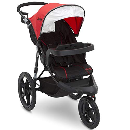 (Jeep Classic Jogging Stroller, Red)